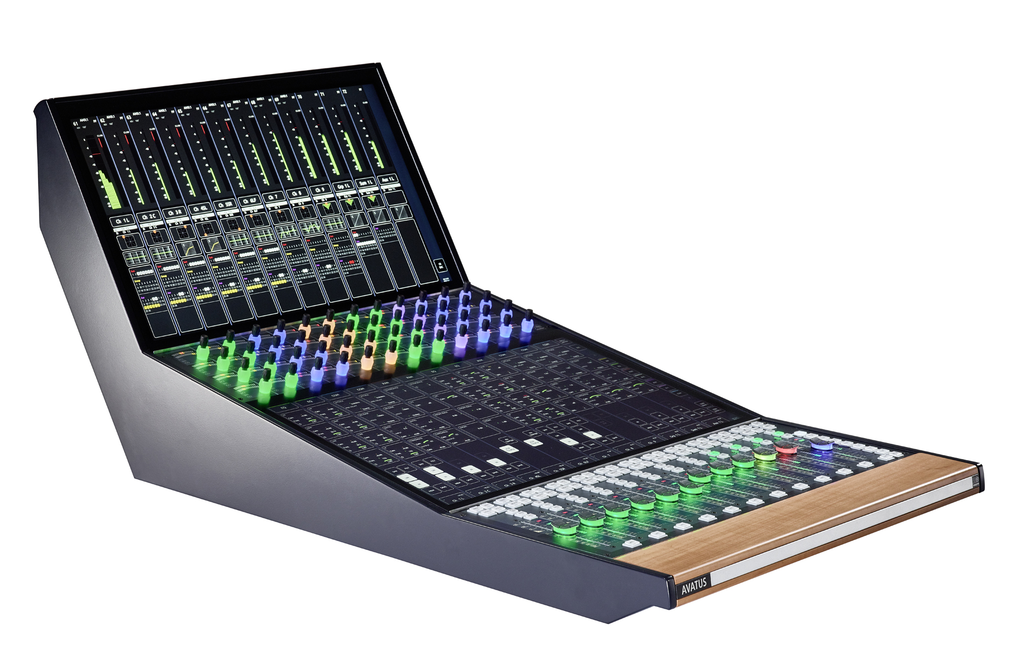 2019 07 StageTec launch Avatus 12 fader